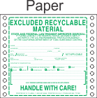 Excluded Recyclable Material Paper Labels HWL385P