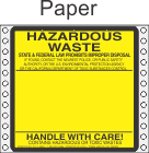 Hazardous Waste California Paper Labels HWL150P