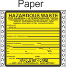 Hazardous Waste California Paper Labels HWL200CAP