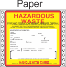 Hazardous Waste California Paper Labels HWL202CAP