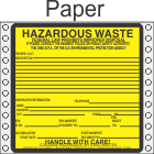 Hazardous Waste Ohio Paper Labels HWL485OHP