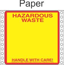 Hazardous Waste Paper Labels HWL155P