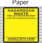 Hazardous Waste Paper Labels HWL160P