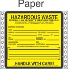 Hazardous Waste Paper Labels HWL170P