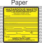 Hazardous Waste Paper Labels HWL200P