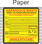 Hazardous Waste Paper Labels HWL320P