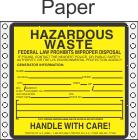 Hazardous Waste Paper Labels HWL400P