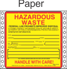 Hazardous Waste Paper Labels HWL405P