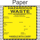 Hazardous Waste Paper Labels HWL440P