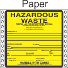 Hazardous Waste Paper Labels HWL450P