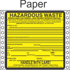 Hazardous Waste Pennsylvania Paper Labels HWL490PAP