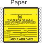 Hazardous Waste RQ Paper Labels HWL525P