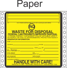 Hazardous Waste RQ Paper Labels HWL525P