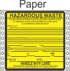 Hazardous Waste South Carolina Paper Labels HWL225SCP