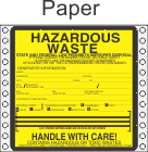 Hazardous Waste Washington Paper Labels HWL495WAP