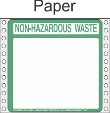 Non-Hazardous Waste Paper Labels HWL350P