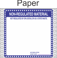Non Regulated Material Paper Labels HWL276P