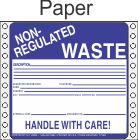 Non-Regulated Waste Paper Labels HWL255P