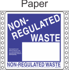 Non-Regulated Waste Paper Labels HWL260P