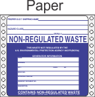 Non-Regulated Waste Paper Labels HWL270P