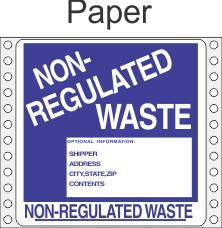 Non-Regulated Waste Paper Labels HWL280P