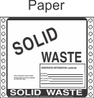 Solid Waste Paper Labels HWL315P