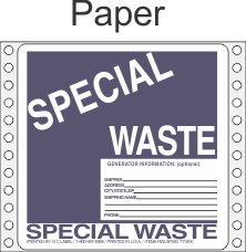 Special Waste Paper Labels HWL300P