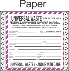 Universal Waste Paper Labels HWL605P