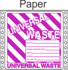 Universal Waste Paper Labels HWL626P