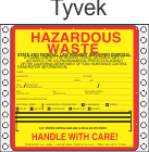 Hazardous Waste California Tyvek Labels HWL175T