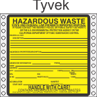 Hazardous Waste California Tyvek Labels HWL200CAT