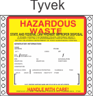Hazardous Waste California Tyvek Labels HWL202CAT