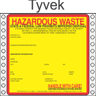 Hazardous Waste California Tyvek Labels HWL415CAT