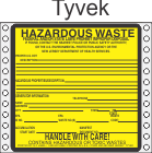 Hazardous Waste New Jersey Tyvek Labels HWL480NJT