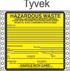 Hazardous Waste Ohio Tyvek Labels HWL485OHT