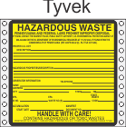Hazardous Waste Pennsylvania Tyvek Labels HWL490PAT