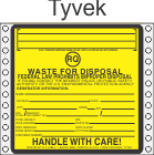Hazardous Waste RQ Tyvek Labels HWL525T