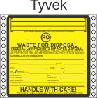 Hazardous Waste RQ Tyvek Labels HWL525T