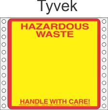 Hazardous Waste Tyvek Labels HWL155T
