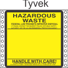 Hazardous Waste Tyvek Labels HWL160T