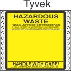 Hazardous Waste Tyvek Labels HWL160T