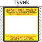 Hazardous Waste Tyvek Labels HWL165T