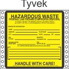 Hazardous Waste Tyvek Labels HWL170T