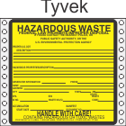 Hazardous Waste Tyvek Labels HWL200T
