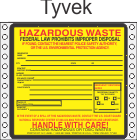 Hazardous Waste Tyvek Labels HWL320T