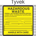 Hazardous Waste Tyvek Labels HWL400T