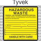 Hazardous Waste Tyvek Labels HWL400T