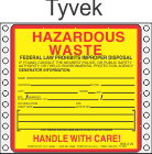 Hazardous Waste Tyvek Labels HWL405T