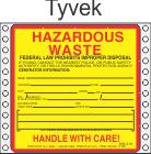 Hazardous Waste Tyvek Labels HWL405T