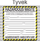 Hazardous Waste Tyvek Labels HWL410T